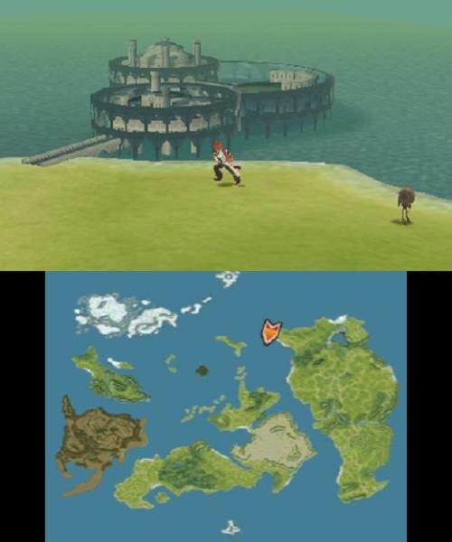 tales of the abyss - two screens overworld
